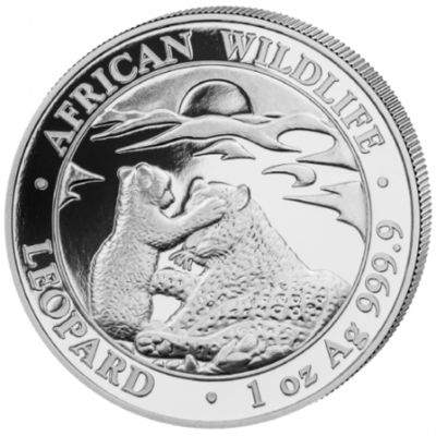 1 oz Somalia African Wildlife - Leopard 9999 Silver Coin BU.png